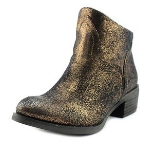 *SOLD* Not Rated Sagitta gold/black ankle boots
